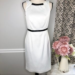 JS COLLECTIONS White Sleeveless Formal Dress